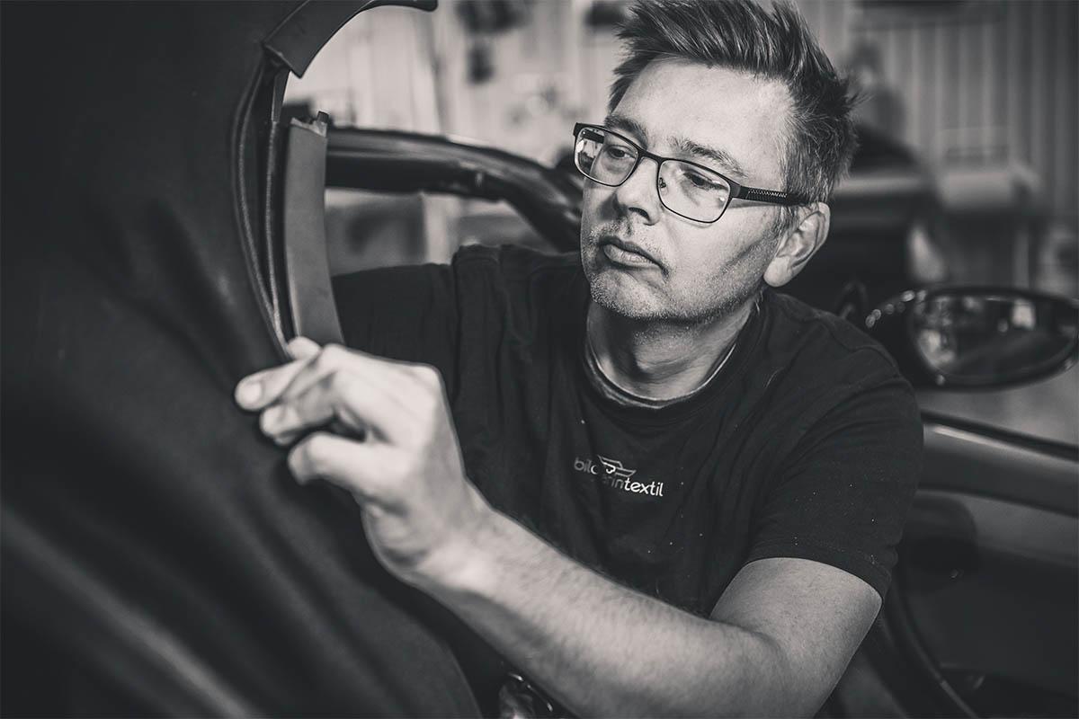 Detaljarbete på fordon